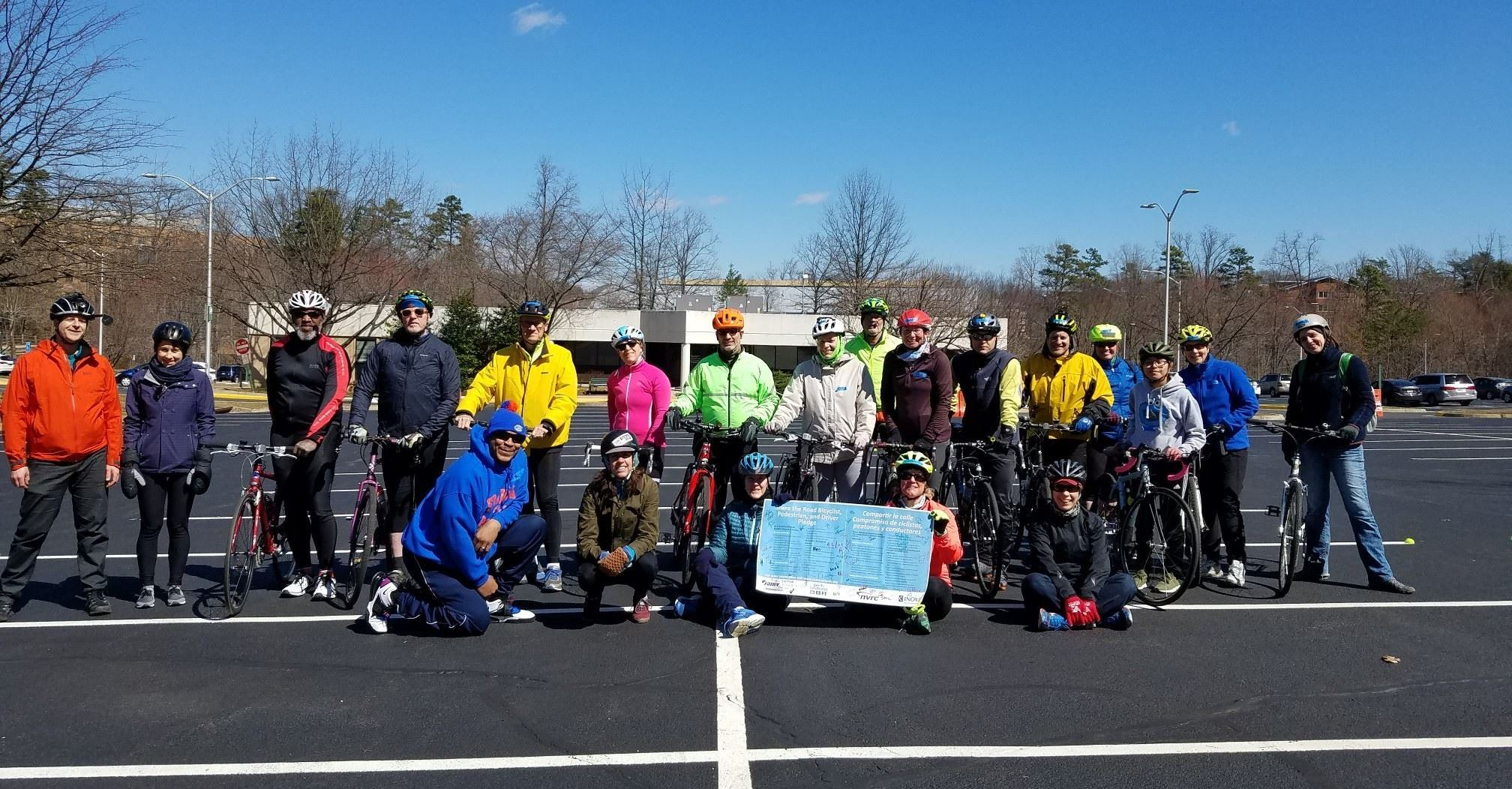 Photo of Bike Training Participants