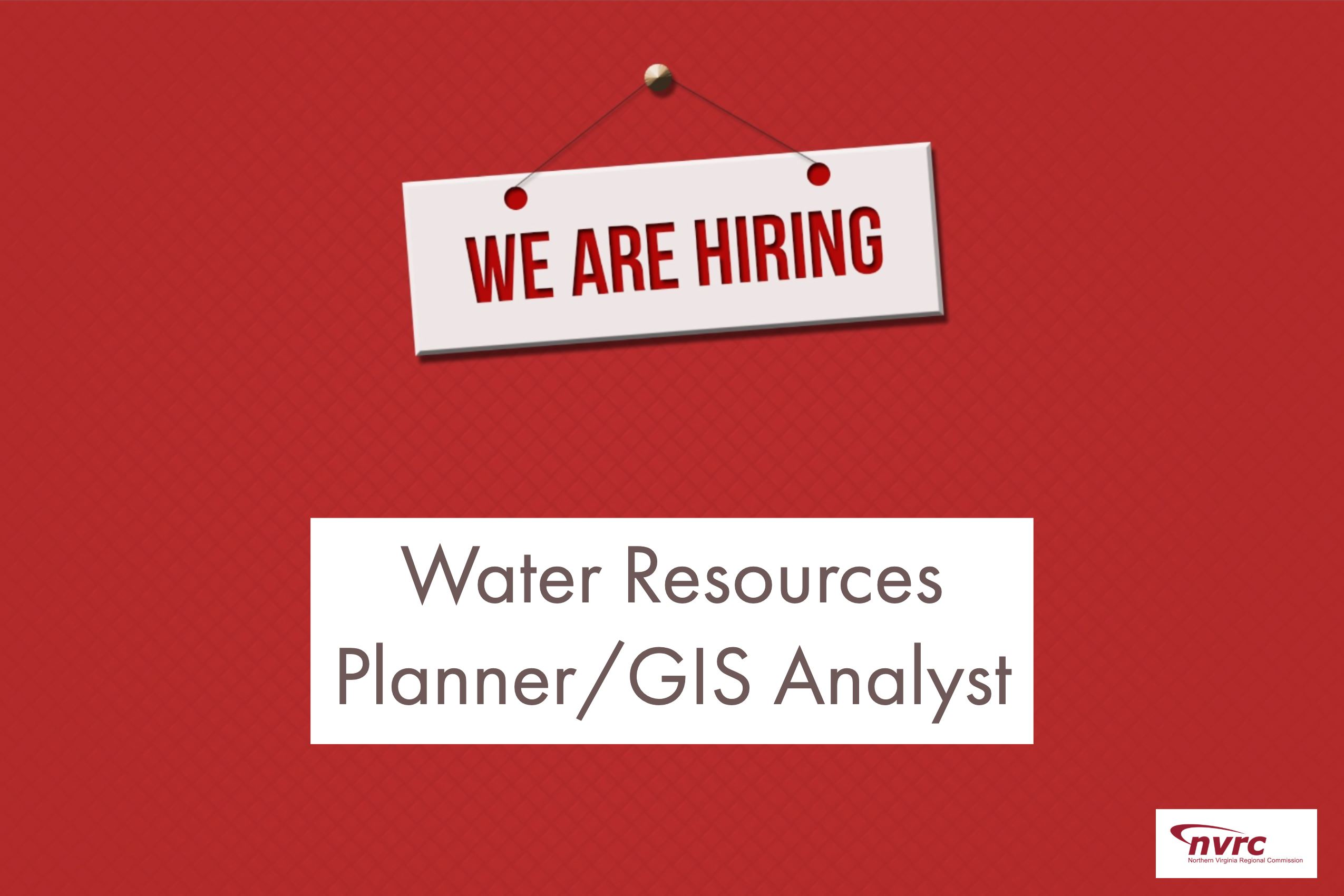 We Are Hiring Water/GIS Analyst