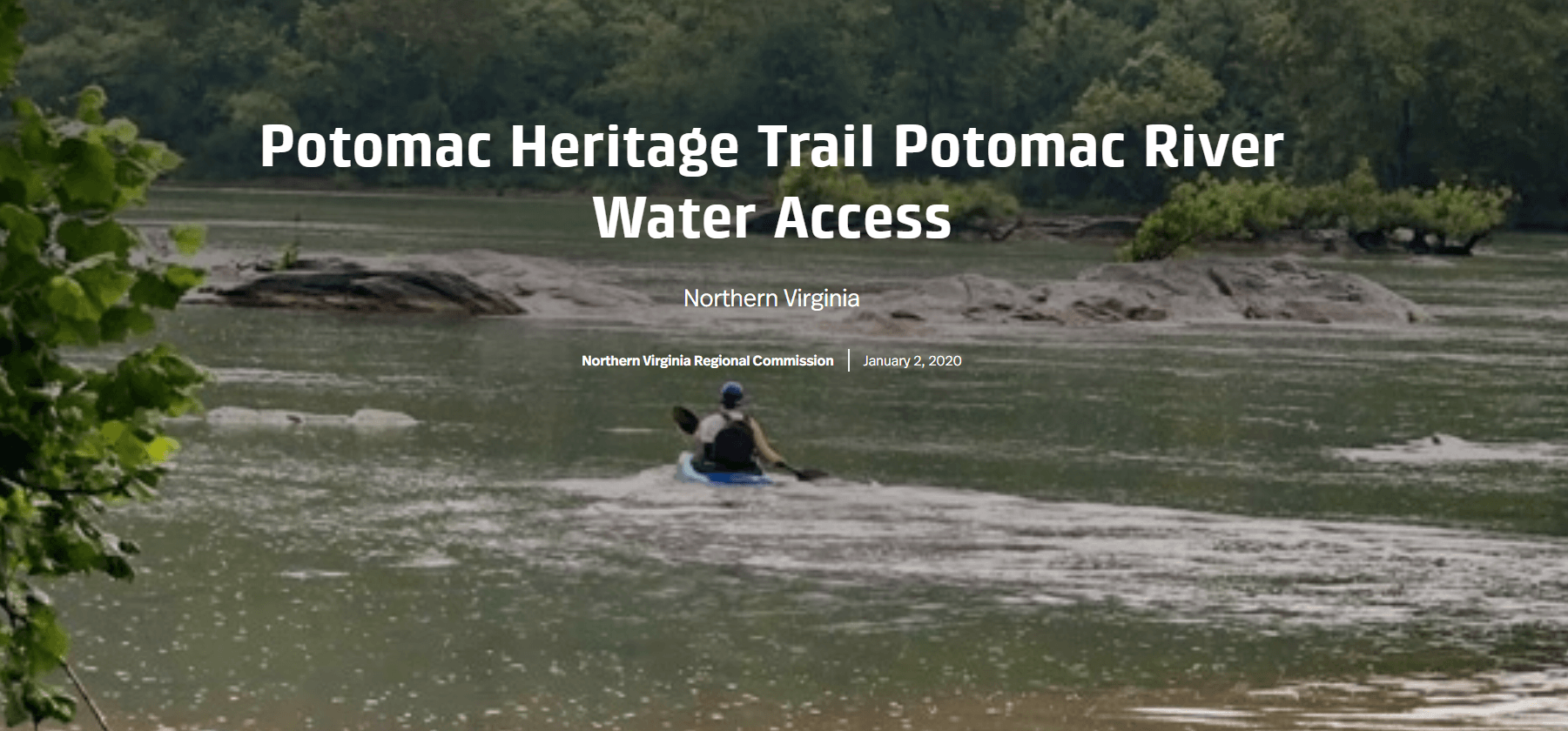 Water Access Story Map Cover Image Opens in new window