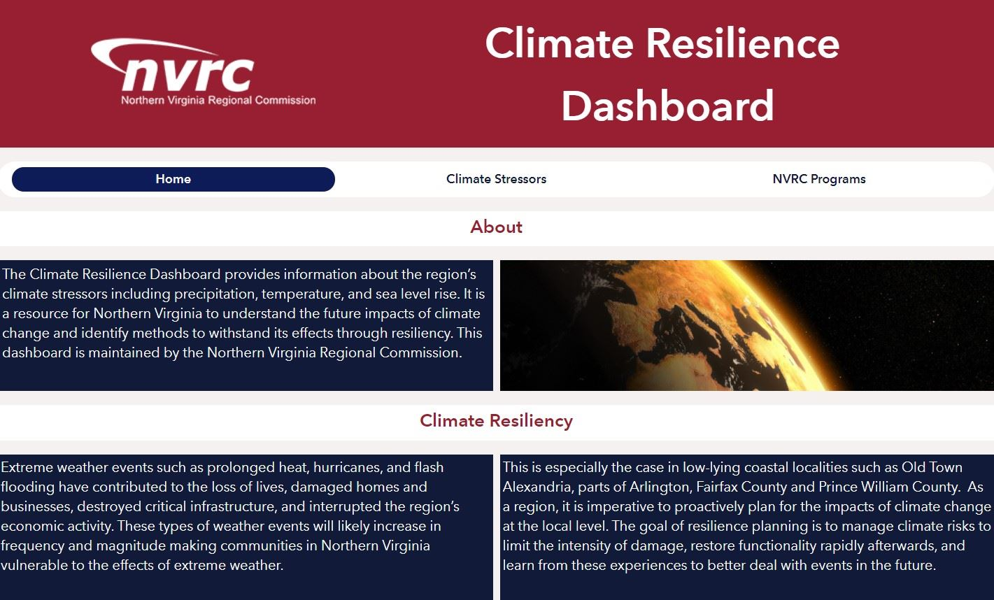 Climate Resilience Dashboard Photo